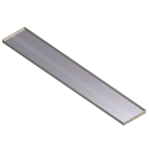 APW Wyott Stainless Steel Dish Shelf For Well Sealed - 2 well steam table