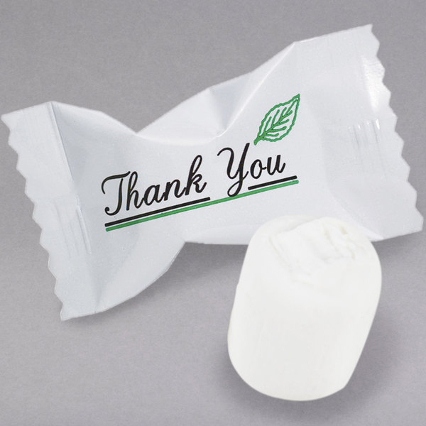 """""""Thank You"""" Buttermints Individually Wrapped - 1000/Case"""
