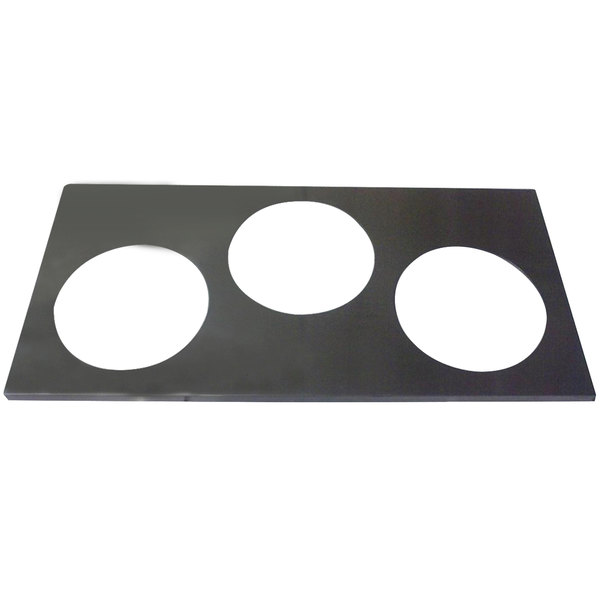 """APW Wyott 56638 3 Hole Adapter Plate with 8 3/8"""" Openings Main Image 1"""