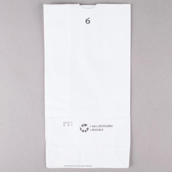 7f1de7ec343 Duro 6 lb. White Paper Bag - 500 Bundle. Image Preview · Main Picture ·  Image Preview