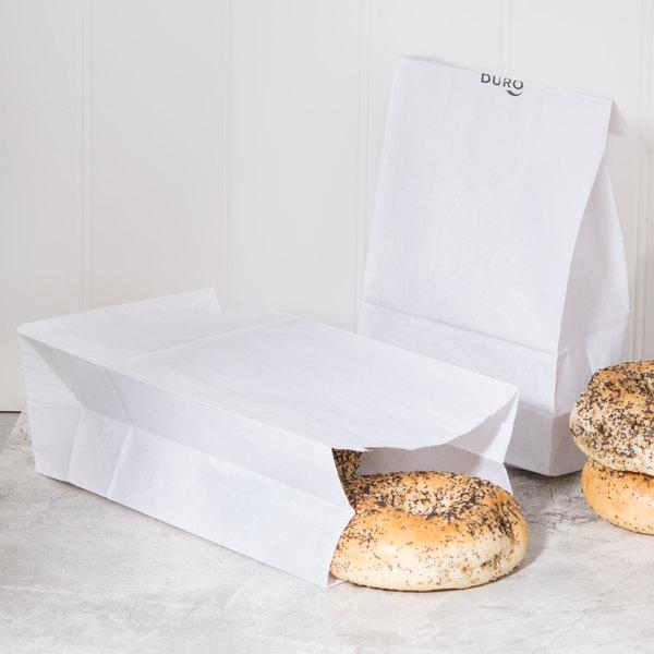 Duro 6 lb. White Paper Bag - 500/Bundle