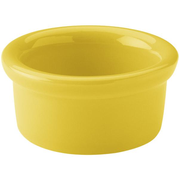 Hall China 30363320 Sunflower 3.5 oz. Colorations Round China Ramekin - 36/Case