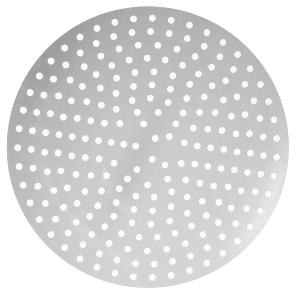 """American Metalcraft 18918P 18"""" Perforated Pizza Disk Main Image 1"""