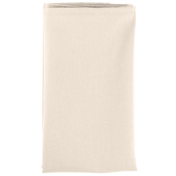 Intedge Ivory 65 35 Polycotton Blend Cloth Napkins 20 X 20 12 Pack