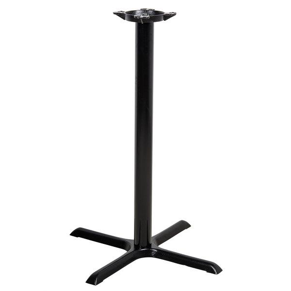 "Lancaster Table & Seating 30"" x 30"" x 41"" Black Metal Table Base - Bar Height"