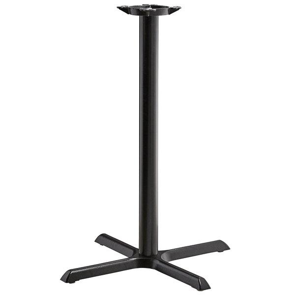 "Lancaster Table & Seating 30"" x 30"" Black 3"" Bar Height Column Table Base Main Image 1"
