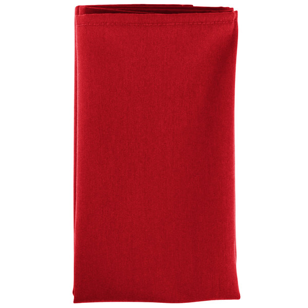 Intedge Red 65 35 Polycotton Blend Cloth Napkins 20 X 20 12 Pack