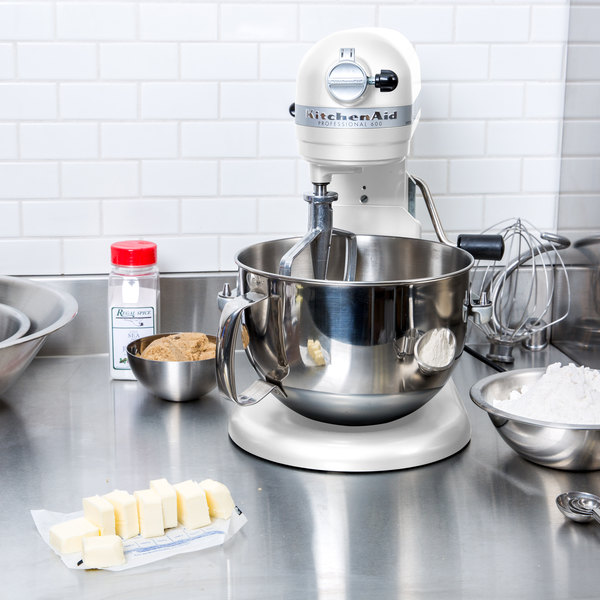 KitchenAid KP26M1XWH White Professional 600 Series 6 Qt. Countertop Mixer