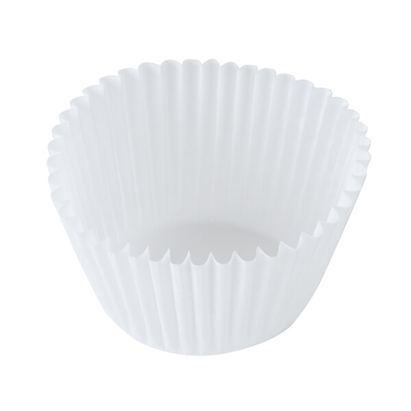 Hoffmaster 610070 2 1/4 inch x 1 7/8 inch White Fluted Baking Cup 10,000/Case