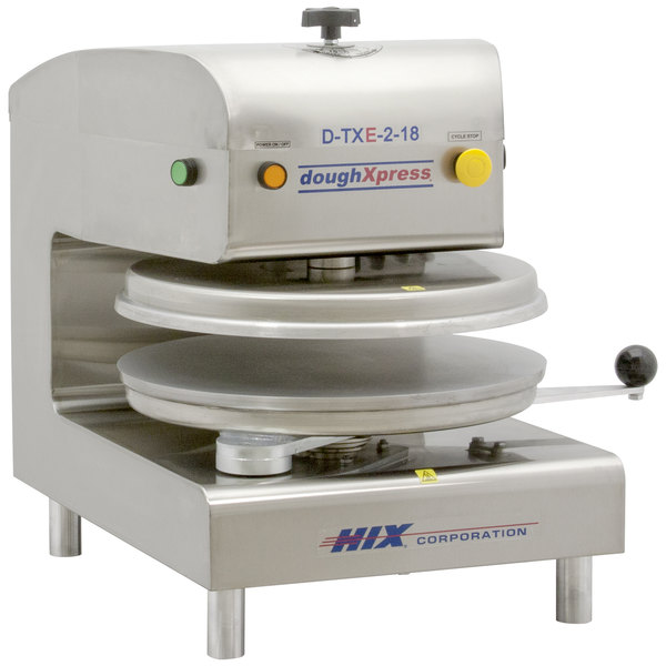 "DoughXpress D-TXE-2-18 Dual Heat Round Electromechanical Tortilla Press 18"" - 220V Main Image 1"