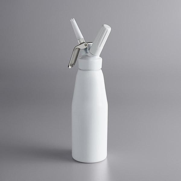 Chef Master White 1 Liter Whipped Cream Dispenser Main Image 1