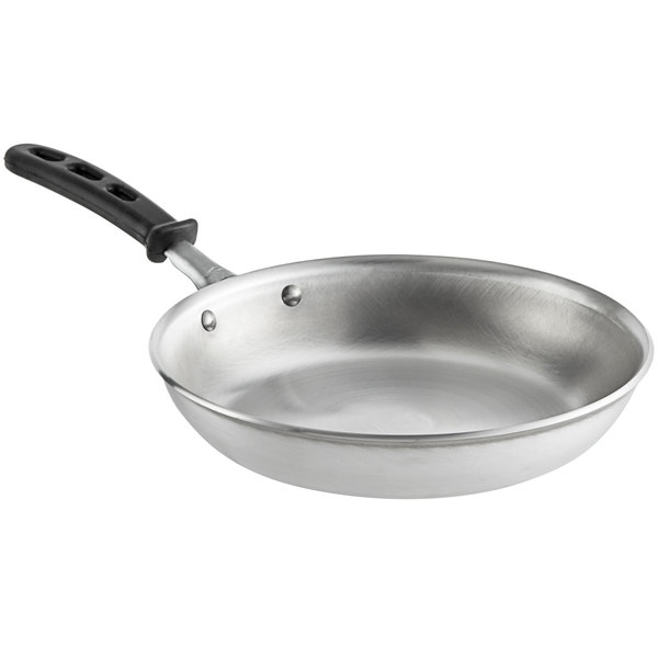 "Vollrath 67910 Wear-Ever 10"" Aluminum Fry Pan with Black TriVent Silicone Handle Main Image 1"