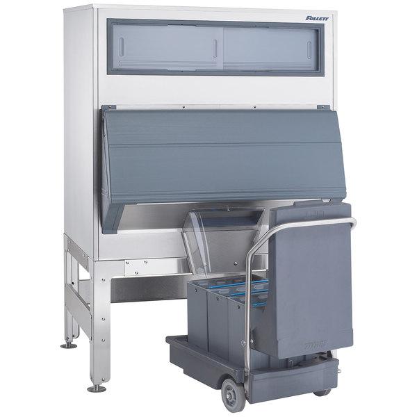 "Follett DEV860SG-48-75 48"" Ice Storage Bin with 75 lb. Ice Cart - 860 lb."