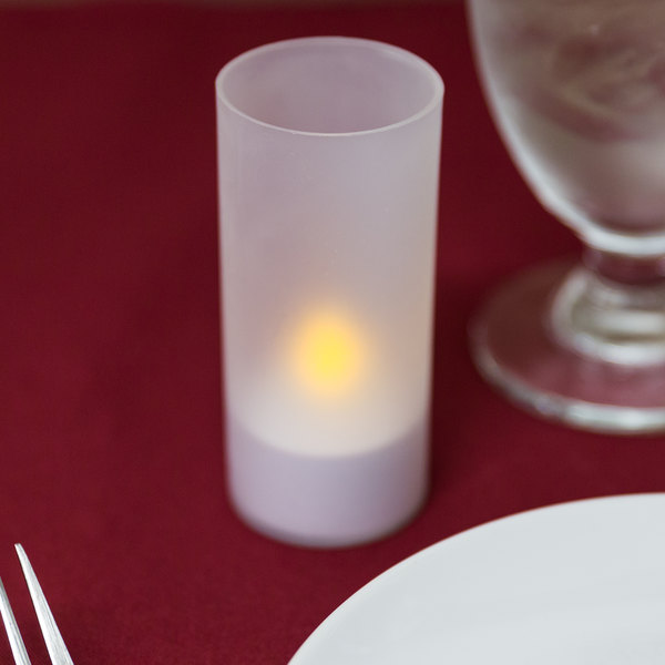 6piece set flameless tea light candles with frosted plastic cup