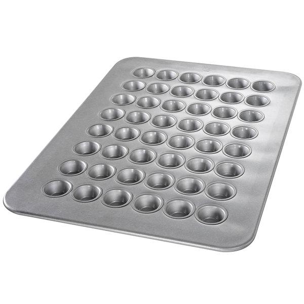 Chicago Metallic 45295 48 Cup 1.1 oz. Glazed Aluminized Steel Mini Muffin Pan - 17 7/8 inch x 25 7/8 inch