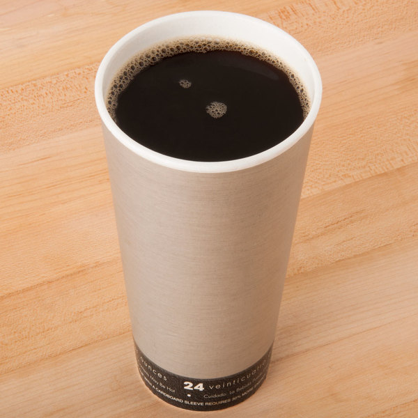 Dart 24U16FS Fusion Steele 24 oz. Foam Hot Cup - 20/Pack Main Image 2