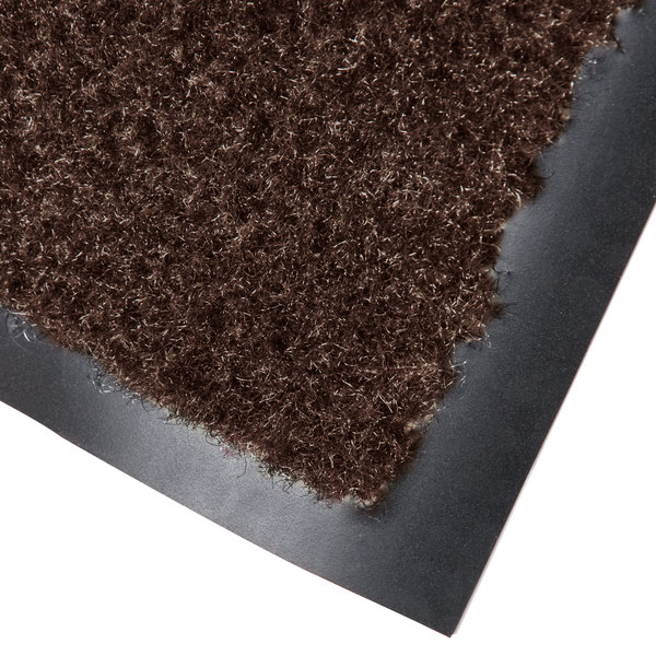 "Cactus Mat 1437M-B41 Catalina Standard-Duty 4' x 10' Brown Olefin Carpet Entrance Floor Mat - 5/16"" Thick"