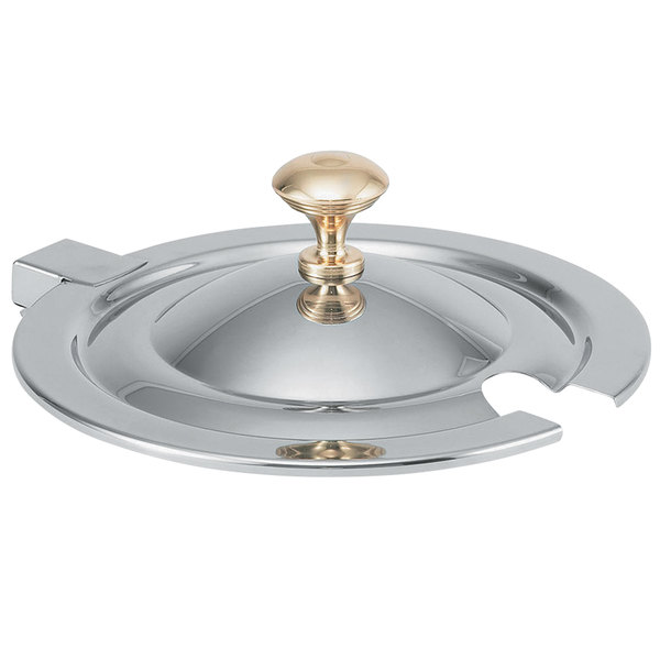 Vollrath 8231620 Miramar® Hinged Cover with Brass Knob for 7 Qt. 8230010 Stainless Steel Soup Inset