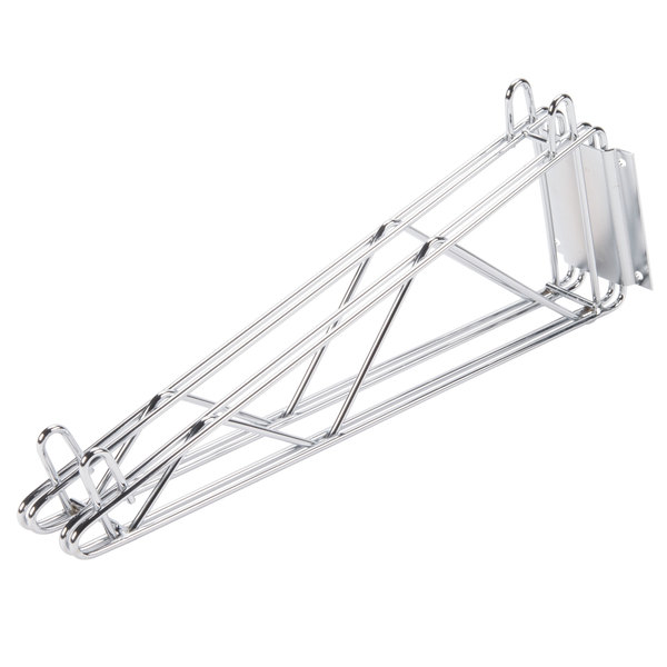 """Advance Tabco DB-18 18"""" Deep Double Wall Mounting Bracket for Adjoining Chrome Wire Shelves"""