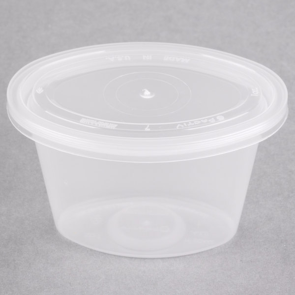 Newspring Ye501 Ellipso 1 Oz Oval Souffle Portion Cup With Lid