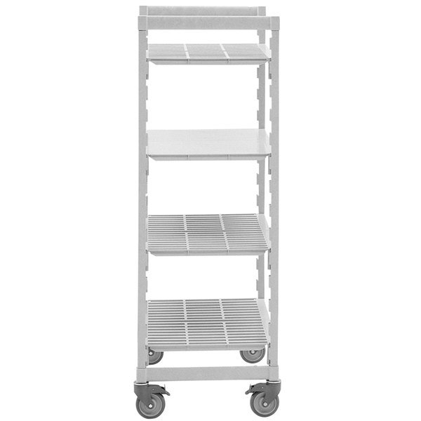 """Cambro CPHU244867S4480 Camshelving Premium Mobile Shelving Unit with 4 Solid Shelves - 24"""" x 48"""""""