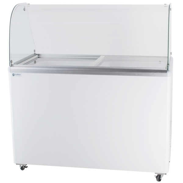 "Excellence EDC-8CHC 48"" Curved Glass Ice Cream Dipping Cabinet Main Image 1"