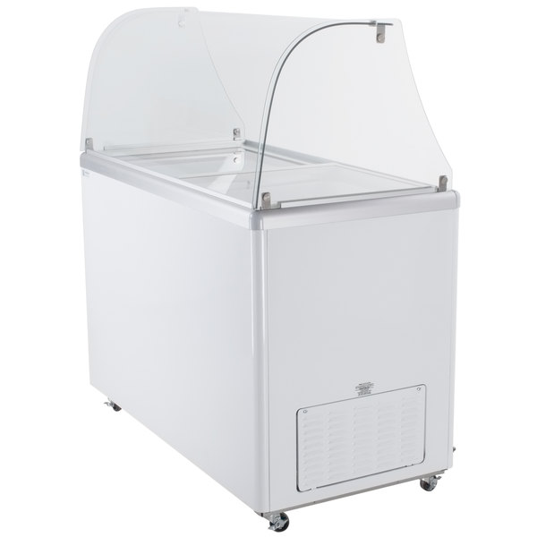 Excellence EDCC Curved Glass Ice Cream Dipping Cabinet - Dipping cabinet
