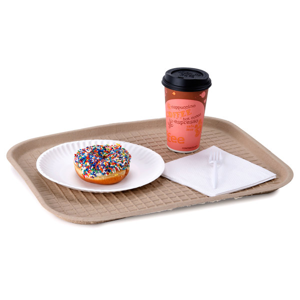 """Green Wave TW-TOO-041 9"""" x 12"""" Biodegradable Tray - 250/Case"""