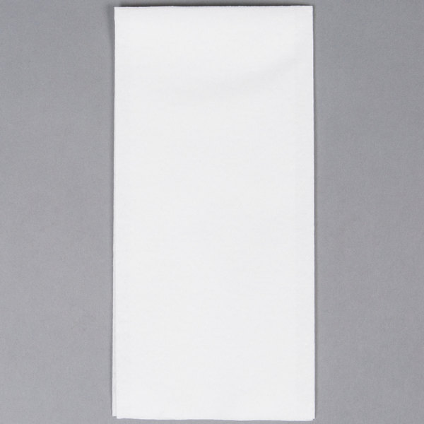 Hoffmaster 856499 Linen-Like 12 inch x 17 inch White 1/6 Fold Guest Towel  - 500/Case