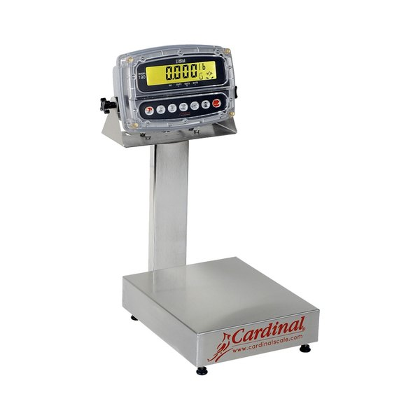 Cardinal Detecto EB-60-190 60 lb. Electronic Bench Scale with 190 Indicator and Tower Display, Legal for Trade Main Image 1