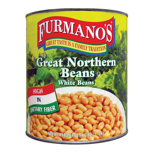 Furmano's #10 Can Great Northern Beans - 6/Case