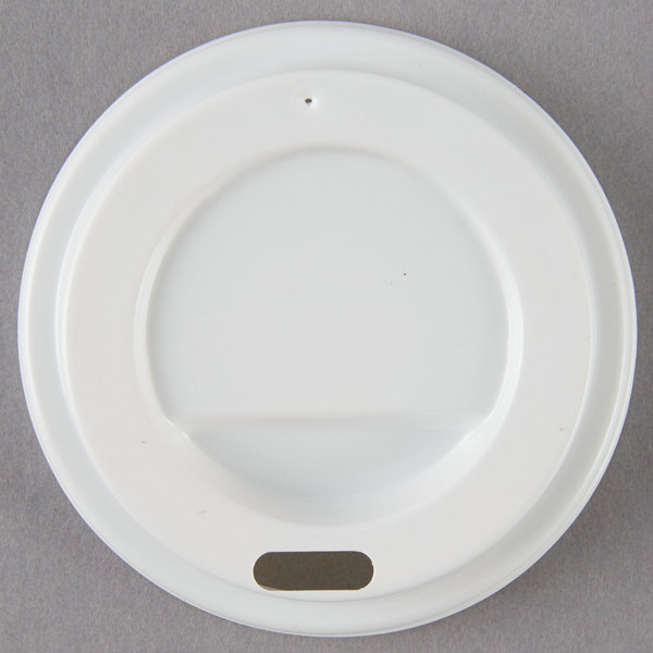 Choice 4 Oz White Hot Paper Cup Travel Lid 100 Pack