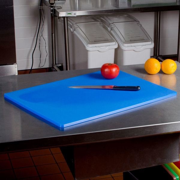 """18"""" x 24"""" x 1/2"""" Blue Cutting Board"""