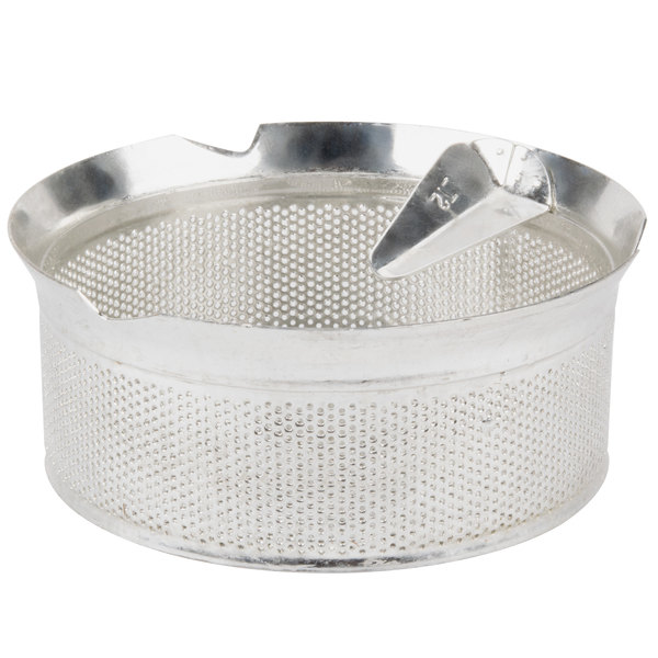 "Tellier M5020 5/64"" Perforated Replacement Sieve for # 5 Food Mill - Tin-Plated Steel"