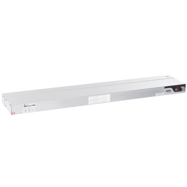 "APW Wyott FDL-48H-T 48"" High Wattage Lighted Calrod Food Warmer with Toggle Controls - 208V, 1425W"