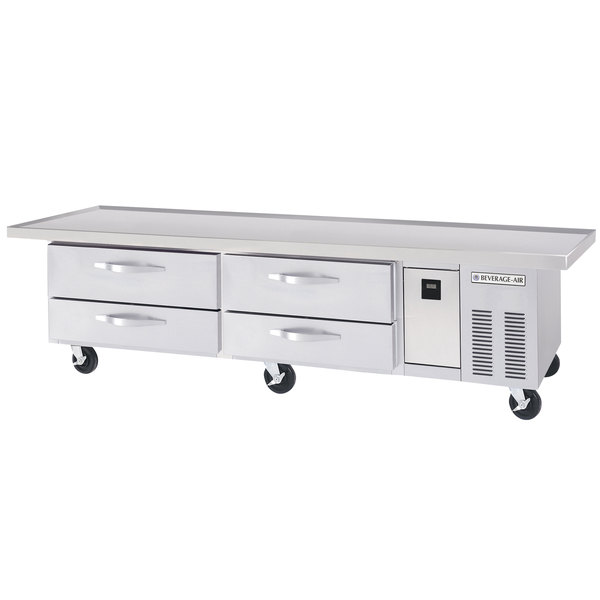 "Beverage-Air WTRCS84D-1-96 96"" Four Drawer Refrigerated Chef Base"