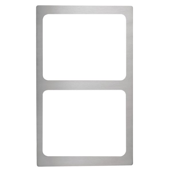 Vollrath 8243014 Miramar Stainless Steel Adapter Plate for Two Small Food Pans