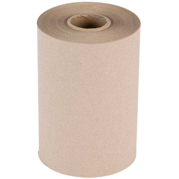 Lavex Janitorial Natural Brown Kraft Roll Towel 350 Feet / Roll - 12/Case