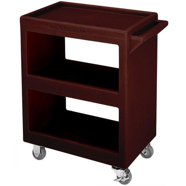 "Cambro BC2304S131 Dark Brown Three Shelf Service Cart - 33 1/4"" x 20"" x 34 5/8"""