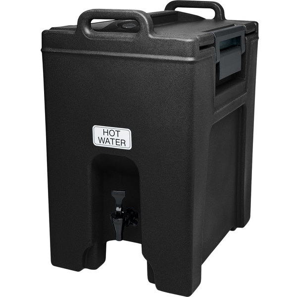 Cambro UC1000110 Ultra Camtainers® 10.5 Gallon Black Insulated Beverage Dispenser Main Image 1
