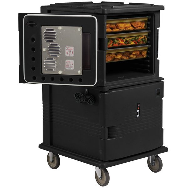Cambro UPCH16002110 Ultra Camcart® Black Electric Hot Food Holding Cabinet in Fahrenheit - 220V Main Image 1