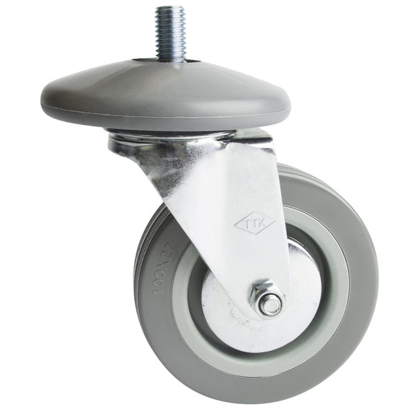 """Choice 4"""" Swivel Stem Caster for Stainless Steel Utility Carts Main Image 1"""