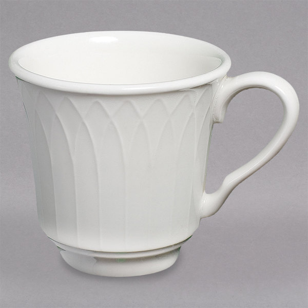 Homer Laughlin 8876900 Kensington Ameriwhite 7 oz. Bright White China Tea Cup - 36/Case