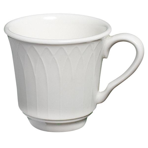 Homer Laughlin 8876900 Kensington 7 oz. Bright White China Tea Cup - 36/Case