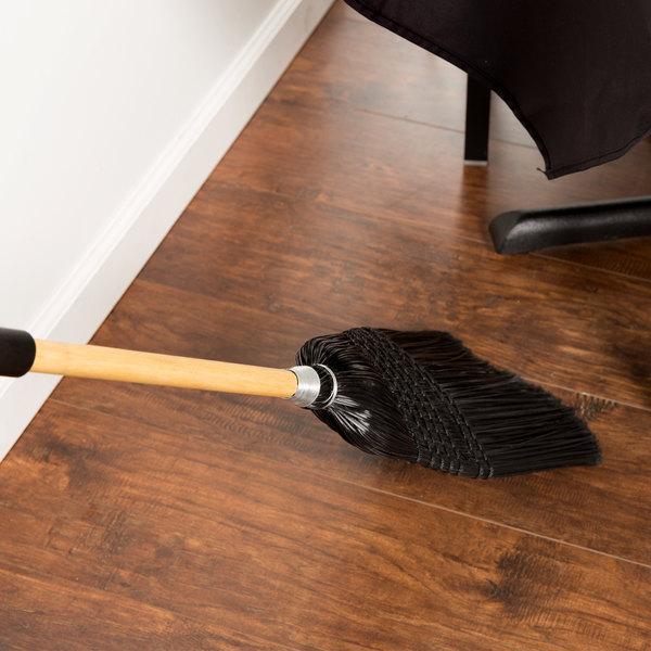 Carlisle 4167903 Synthetic Corn Janitor Broom Black