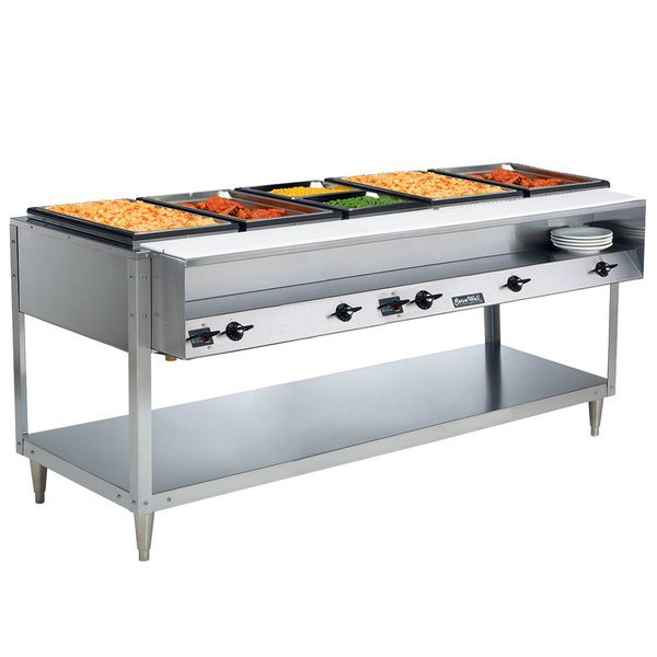 Vollrath 38119 ServeWell Electric Five Pan Hot Food Table 208/240V - Sealed Well Main Image 4
