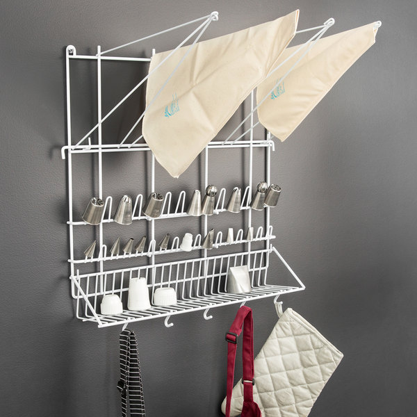 """Matfer Bourgeat 169002 19 5/8"""" x 19 5/8"""" Plasticized Wire Pastry Bag and Tip Drying Rack"""