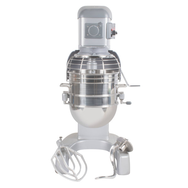 Hobart Legacy HL400-1 40 Qt. Commercial Planetary Floor Mixer with Standard Accessories - 240V/3 Phase, 1 1/2 hp Main Image 1