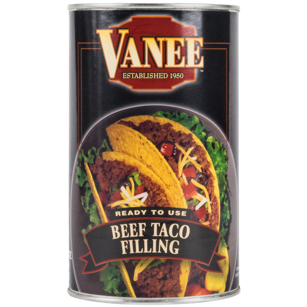 Vanee 356T3 48 oz. Can Beef Taco Filling - 6/Case