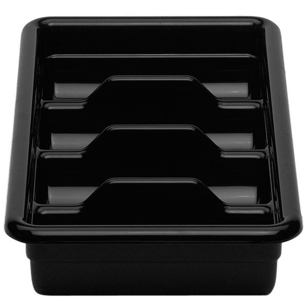 "Cambro 1120CBR110 Black Plastic Regal Cutlery Box 11"" x 20"""